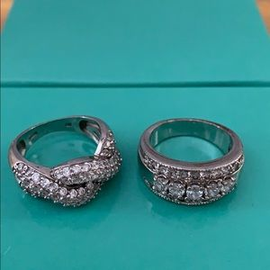 Jewelry - Two rhinestone embellished rings